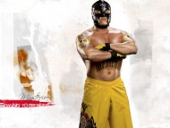 Rey Mysterio In the leather mask and in yellow shorts / Wrestling WWE