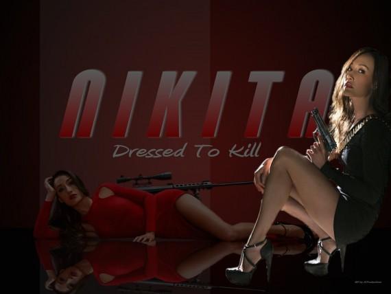 Free Send to Mobile Phone nikita, maggie q, hot babes, spies, bikinis, high heels, girls Nikita wallpaper num.14