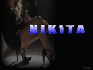 maggie q, nikita, spy, sex, guns, high heels / Nikita