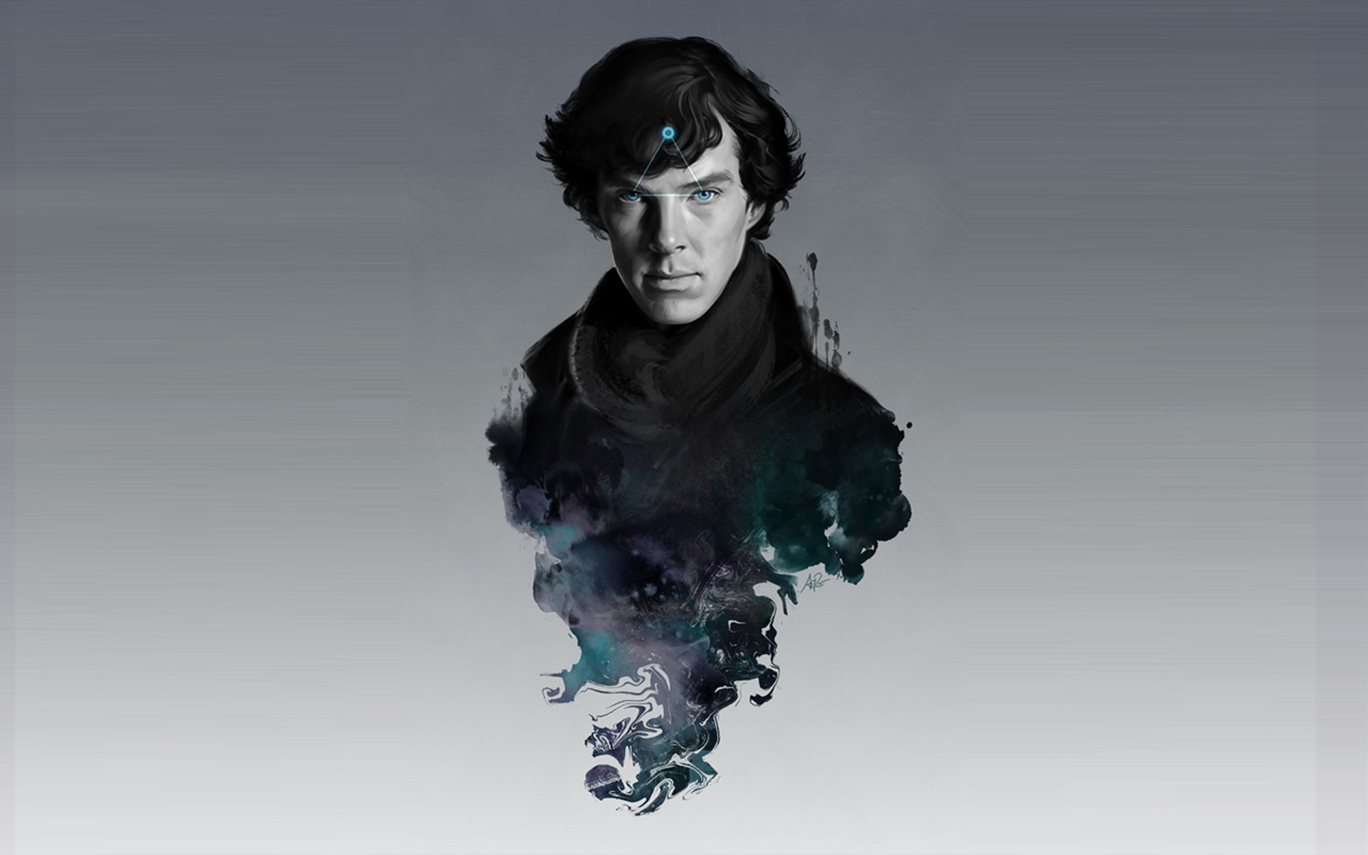 Download HQ The Excellent Mind Sherlock wallpaper / 1920x1200