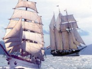 Two boats / Frigates & Sailing ships