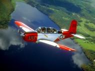 above river / Civilian Aircraft