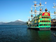 Green ship / Frigates & Sailing ships