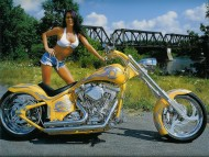 Yellow bike / Girls & Motorcycles