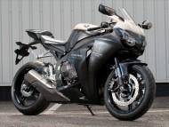 Honda black CBR Fireblade / Motorcycle