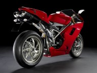 red Ducati 1198s / Motorcycle