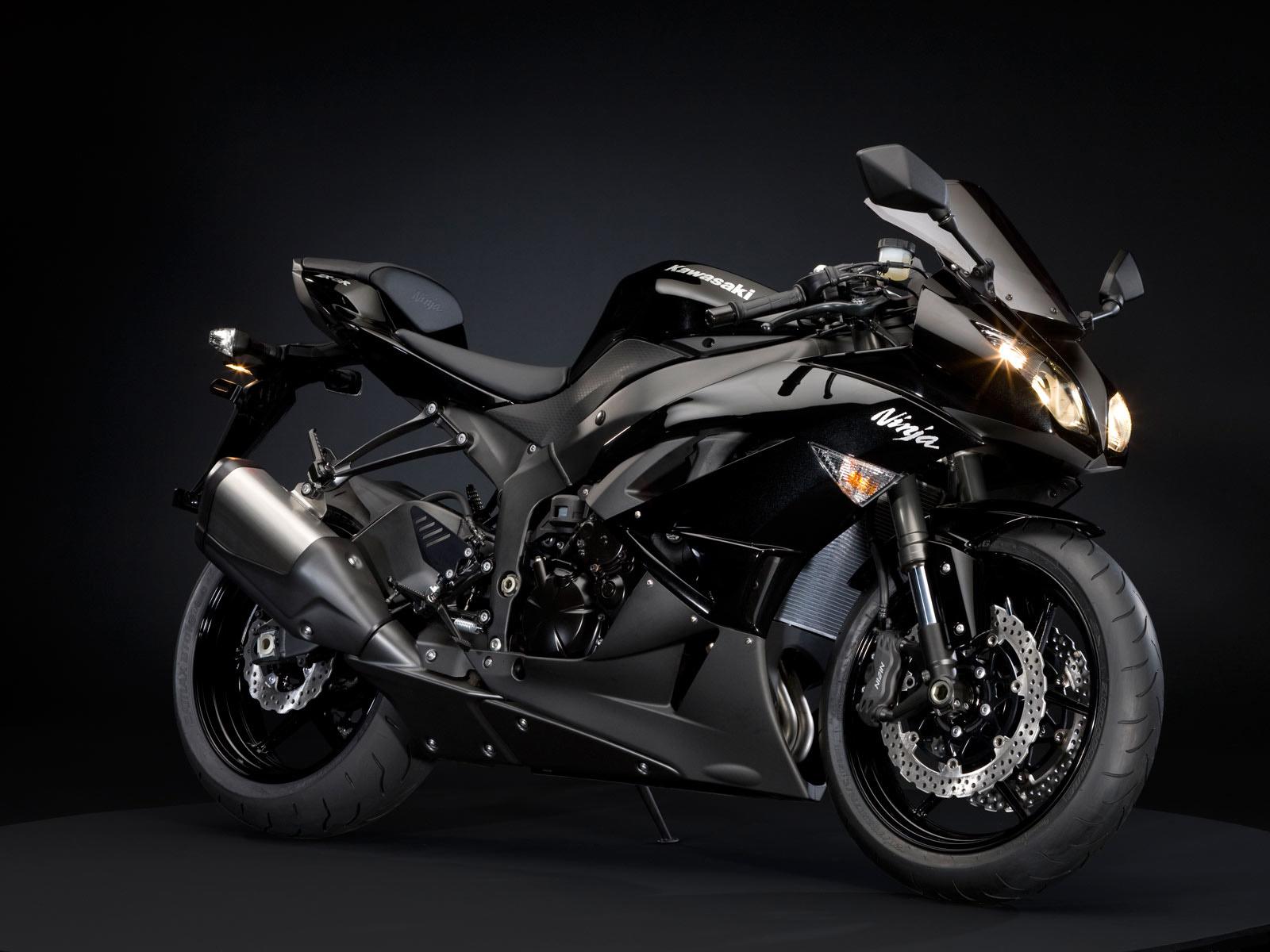 free download hq kawasaki ninja black motorcycle wallpaper