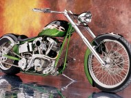 BlackGreen Machine / Motorcycle