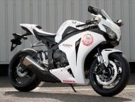 Honda white CBR Fireblade / Motorcycle
