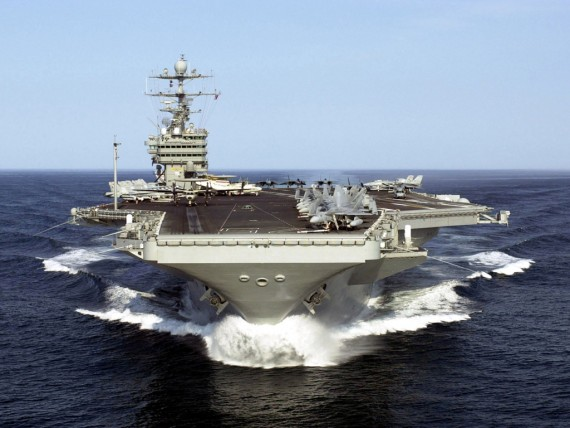 Free Send to Mobile Phone Aircraft carrier with planes on board Naval Vessels wallpaper num.77