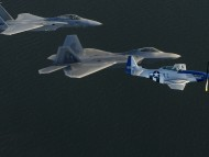 F-15 Eagle, F-A-22 Raptor and P-51 Mustang / Military Airplanes