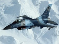 over the snow-capped mountains / Military Airplanes