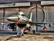 hangar, airplane shed / Military Airplanes