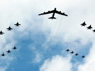 B-52 Stratofortress And Escort / Military Airplanes