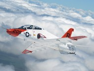 Navy fighter above the clouds / Military Airplanes