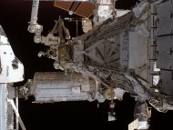 Atlantis At International Space Station / Space Ships