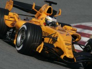 Yellow Mercedes / Formula 1