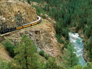 durango and silverton narrow gauge railroad, trimble, colorado / Trains