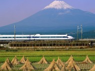 Bullet Train, Mount Fuji, Japan / Trains
