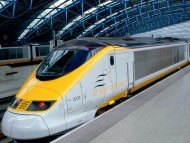 eurostar waterloo international station, london, england / Trains