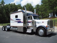 White motorhome / Trucks