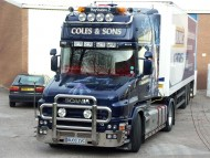 blue Scania / Trucks