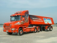 Download red trailer Scania / Trucks