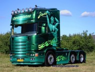 green trailer Scania / Trucks