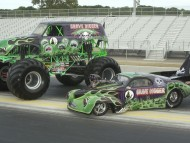 Grave Digger Monster Truck And Top Fuel Funny Car / Unique